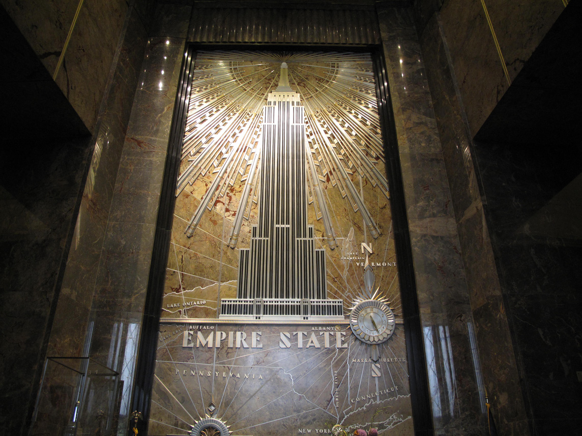 Some pictures for Empire state building art deco interior